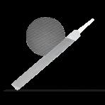 Напильник острый гладкий стальной 200мм