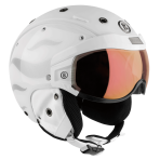 Горнолыжный шлем Bogner Visor Flames white